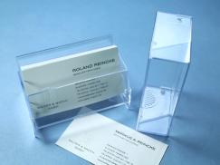 Visitenkartenbox transparent, 27 mm Füllhöhe