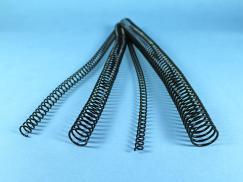 Spiralbinderücken, 6 mm Steigung, schwarz